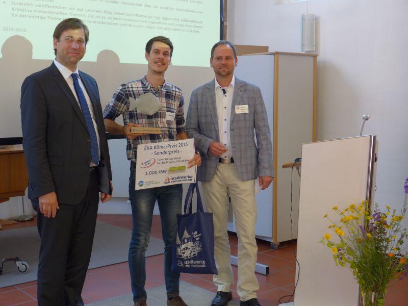 Sonderpreis der Stadtwerke Ebermannstadt für Tilman Kiesel